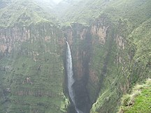 Amhara Region-Water flow-SemienWaterfall