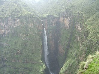 Amhara Region - Waterfall in the Semien Mountains