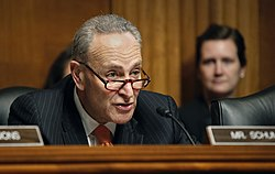 Schumer at work in the Senate in 2016. Image: Glenn Fawcett.