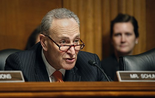 Sen. Charles Schumer, (D-N.Y) makes opening remarks during a hearing attended by a panel of Department of Homeland Security senior officials