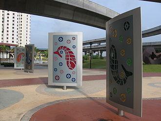 Sengkang Sculpture Park - Rotating Fish Motiff Panels
