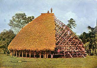Samoan culture - Construction of a Samoan fale, c. 1896 (see: Architecture of Samoa)