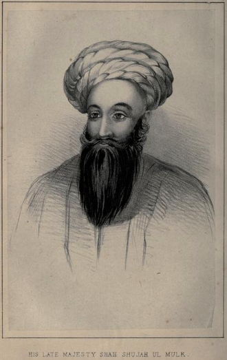 Shah Shujah Durrani - An old sketch work showing Shah-Shuja-ul-Mulk