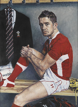 Shane Williams - A 2012 portrait of Williams by portrait artist David Griffiths