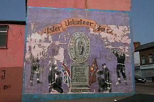 Ulster Volunteer Force - An old UVF mural on the Shankill Road, where the group was formed