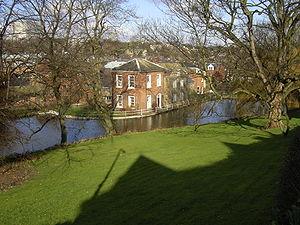 Geography of Sheffield - Porter Brook at Sharrow Mills, Sheffield.