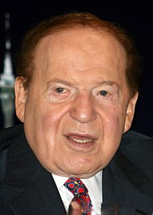 King of the gaming business, Sheldon Adelson