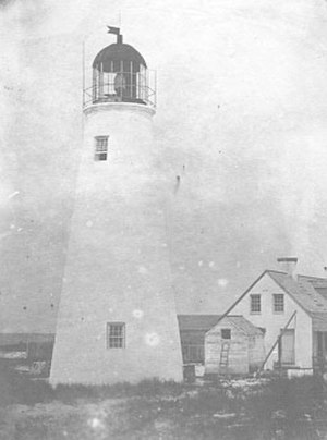 Ship Island (Mississippi) - Ship Island's original brick and mortar 1853 lighthouse.