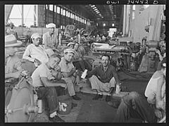 Shipyard workers on their lunch hour 8d39893v.jpg
