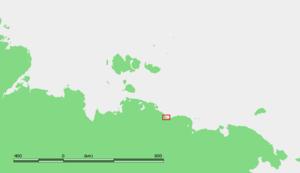 Kolesovsky Island - Location of the Kolesovsky Island.