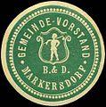 Siegelmarke Gemeinde-Vorstand Markersdorf W0321158.jpg