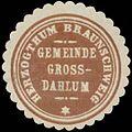 Siegelmarke Gemeinde Groß Dahlum H. Braunschweig W0391288.jpg