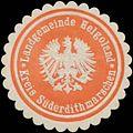 Siegelmarke Landgemeinde Helgoland Kreis Süderdithmarschen W0334292.jpg
