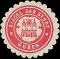 Siegelmarke Siegel der Stadt Guben W0368060.jpg