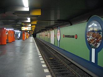 Siemensdamm (Berlin U-Bahn) - Platform view