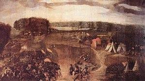 Die Schlacht bei Sievershausen als Ölgemälde um 1600