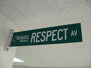 "English: ""Street Sign"" in the hallway."