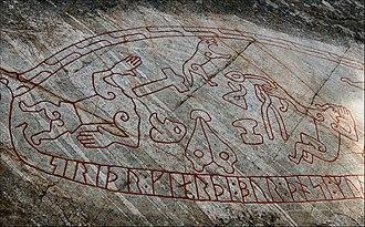 Swedish art - Detail of the Ramsund Sigurd stone, c. 1030