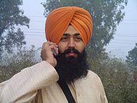 200px Sikh wearing turban