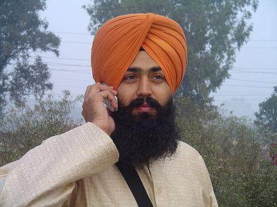 Sikh med turban