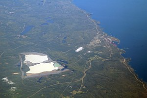 Silver Bay, Minnesota - Silver Bay and its large taconite tailings ponds, 2010