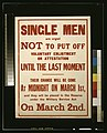 Single men are urged not to put off voluntary enlistment or attestation until the last moment LCCN2003668180.jpg