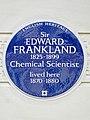 Sir EDWARD FRANKLAND 1825-1899 Chemical Scientist lived here 1870-1880.jpg