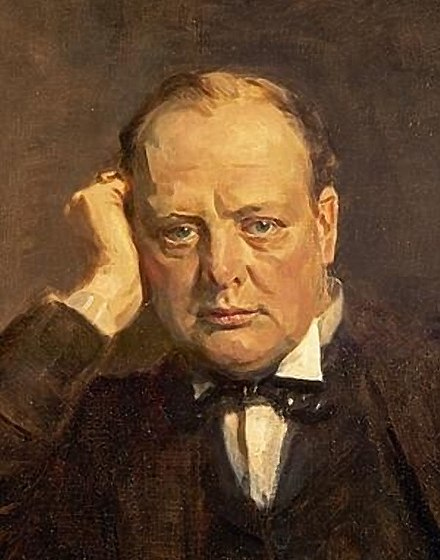 Winston Churchill, architect of the Territorial Army, c.1920 Sir Winston Churchill (statesman) Detail.jpg