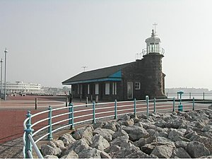 """Little"" North Western Railway - Morecambe Harbour station (now a café)"