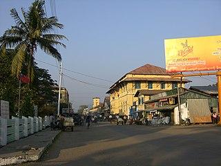 Sittwe City in Rakhine State, Myanmar