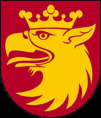 Skåne County - Image: Skåne länsvapen Riksarkivet Sverige