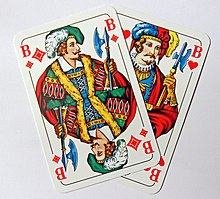 Skat cards-Jacks of Diamonds and Hearts.jpg