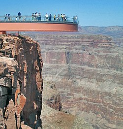 A view of Grand Canyon Skywalk from Outside Ledge
