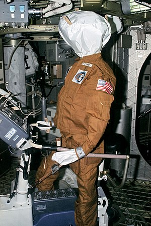 Skylab 4 - One of the dummies left behind by the Skylab 3 crew to be found by the Skylab 4 crew.