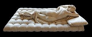 <i>Sleeping Hermaphroditus</i> ancient marble sculpture, modified by Gianlorenzo Bernini