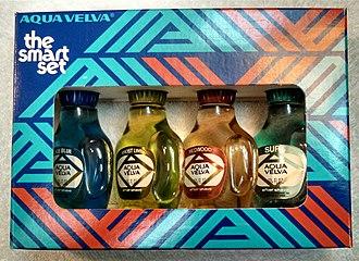 "Aqua Velva - Aqua Velva ""The Smart Set"" from the 1970s. A combination of Aqua Velva After Shave scents normally sold around the holidays."