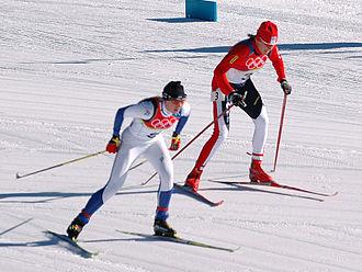 Kristina Šmigun-Vähi - Kristina Šmigun and Kateřina Neumannová in 2006
