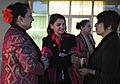 Sofia Khilji speaking with Afghan women in May 2011.jpg