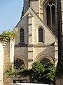 Soissons (02), abbaye Saint-Jean-des-Vignes, échauguette du mur d'enceinte et réfectoire, pignon sud.jpg