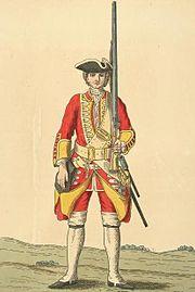 Soldier of 12th regiment 1742