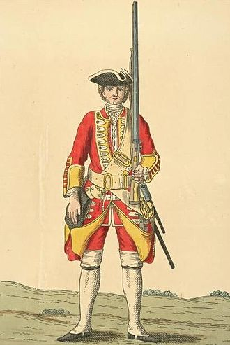 Suffolk Regiment - Soldier of 12th regiment, 1742