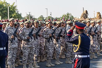 Qatar Armed Forces - Soldiers at Military Parade on Qatar National Day on the 18th of December 2018. Photo by Ijas Muhammed Photography