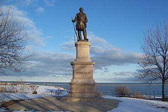 Richard Henry Park - Juneau Monument, view of Lake Michigan