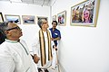 Somendranath Bandyopadhyay Accompanied By Tarak Sengupta Visiting 1st Four Ps Group Exhibition - Kolkata 2019-04-17 5485.JPG