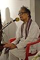 Somendranath Bandyopadhyay Addressing - Biswatosh Sengupta Solo Exhibition Inauguration - Kolkata 2015-07-28 3271.JPG