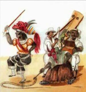 Son de los Diablos - Watercolor by Pancho Fierro