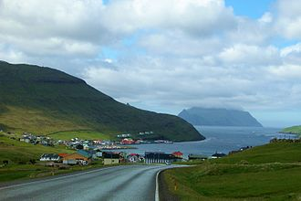 Sørvágur - Looking towards Mykines Island