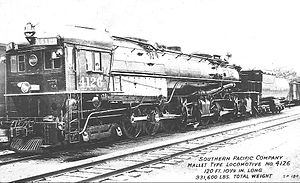 Southern Pacific class AC-6 - Image: Southern Pacific cab forward locomotive 4126