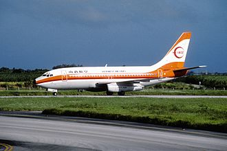 Japan Transocean Air - A former Southwest Air Lines Boeing 737-200.