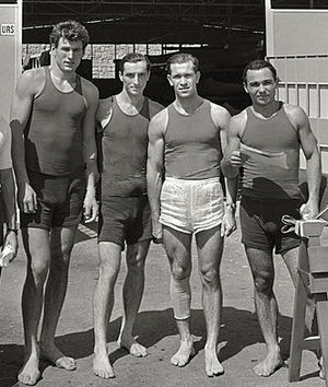 Sergei Makarenko - Makarenko (2nd from right) at the 1960 Olympics